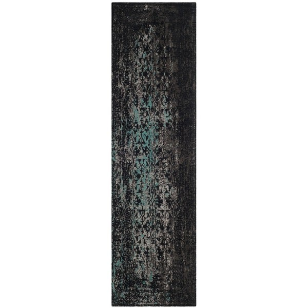 Safavieh Classic Vintage Navy/ Teal Cotton Runner (2' 3 x 8')
