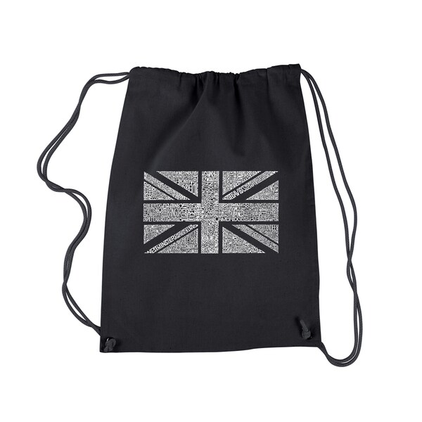 Los Angeles Pop Art Union Jack Drawstring Backpack