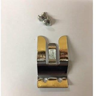 Pro Trucker Goldtone Metal Screw-in Mic Holder Clip