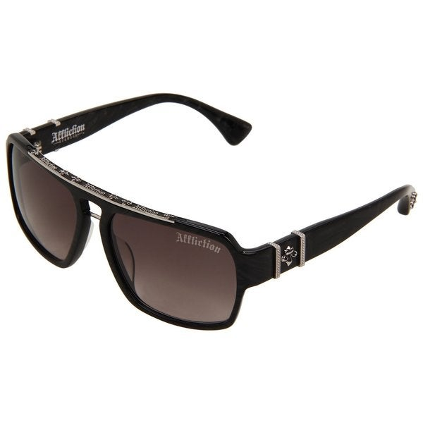 Affliction Mens 'Erik' Black/Silver Eyewear Sunglasses