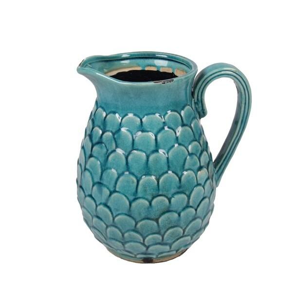 Privilege Blue Ceramic Small Pitcher