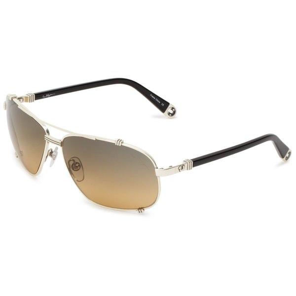 True Religion Unisex Harley Black & Antique Silver Aviator Sunglasses