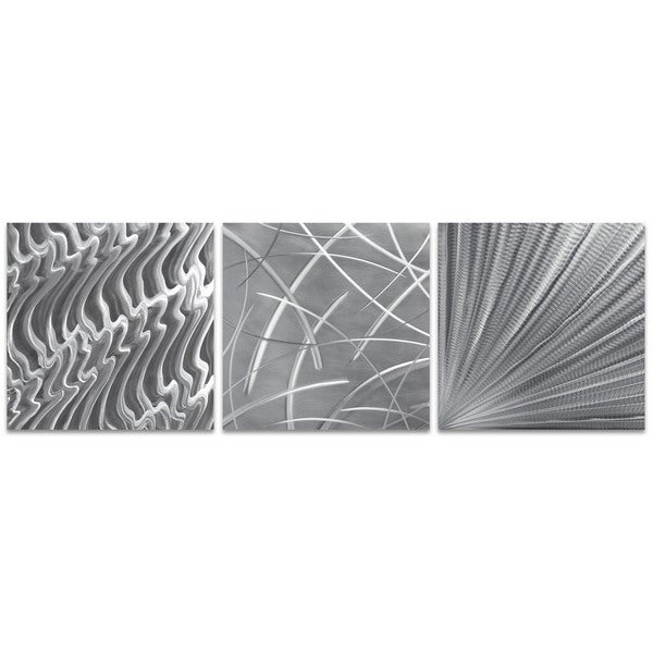 Nicholas Yust 'Countless v2 Triptych Large' Metal Artwork on Metal or Acrylic