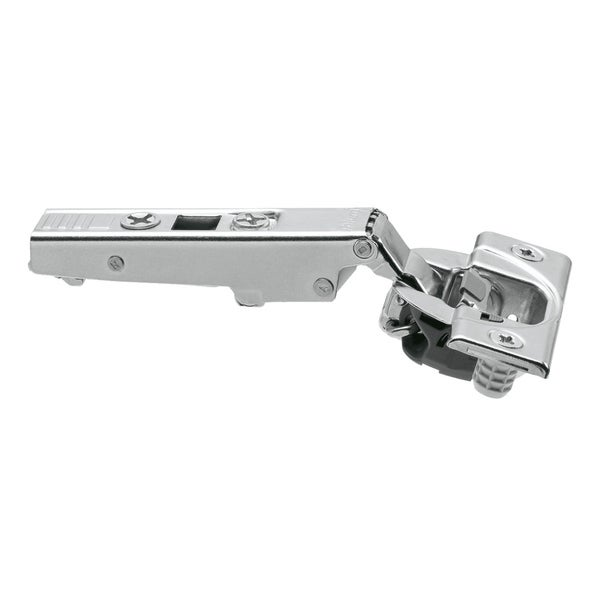 Blum Silver-tone Metal 110-degree Straight-arm Clip-top Press-in Soft-close Cabinet Hinge (Case of 25) 22284802