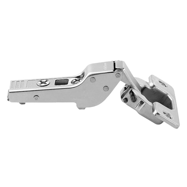 Silver-tone Metal 110-degree Half-cranked Clip-top Screw-on Self-closing Cabinet Hinge (Pack of 5) 22284824