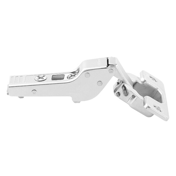 Silver-tone Metal 110-degree Half-cranked Clip-top Screw-on Self-closing Cabinet Hinge (Pack of 5) 22284824