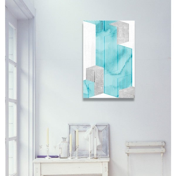 """Going Up! Turquoise"" Canvas Art"