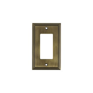 Rok Contemporary Decora / Rocker / GFCI Switch Plate, 1 Gang, Antique Gold