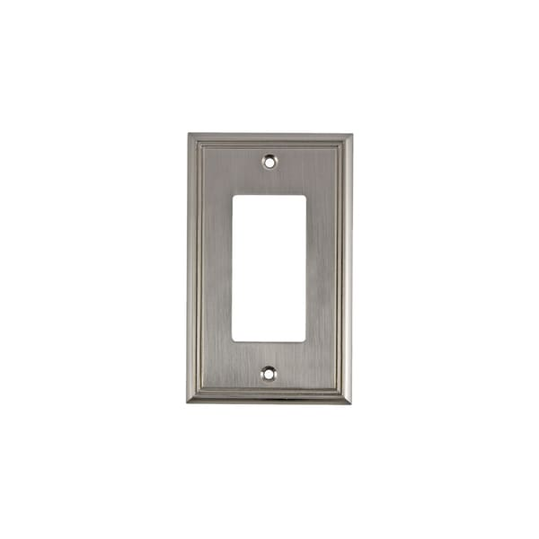 Rok Contemporary Brushed-nickel 1-gang Decora/Rocker/GFCI Switch Plate