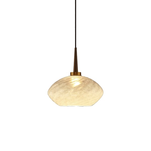 Bruck Lighting Pandora Bronze Metal/Glass 4-inch Kiss Canopy Pendant Light Fixture