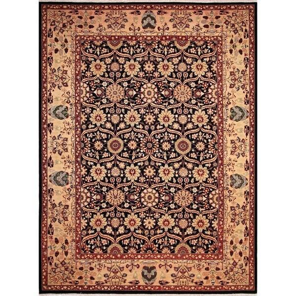 Lahore Gulzada Black/ Beige Rug (10'1 x 13'2) - 10'1 x 13'2 22285461