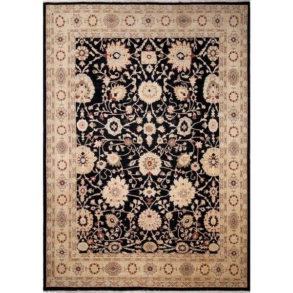 Lahore Leyla Black/ Beige Rug (10'1 x 13'10) - 10'1 x 13'10 22285462