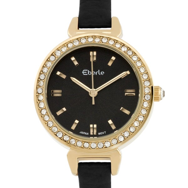 Eberle Austonian Ladies Watch Genuine Leather Strap