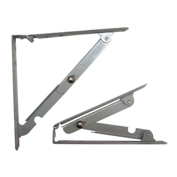 Rok Hardware Grey Medium-duty Folding Shelf Bracket