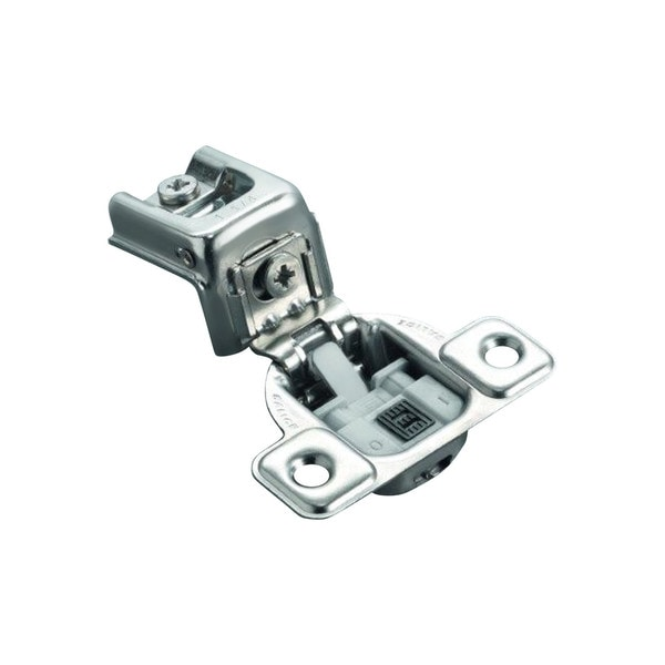 Salice Silver-tone Metal 106-degree 1/2-inch Overlay Soft-close Screw-on Face Frame Hinge (Pack of 10)