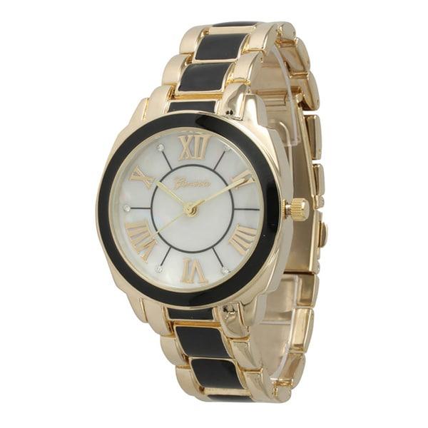 Olivia Pratt Women's Stainless Steel Dual Tone Bracelet Watch 22286095