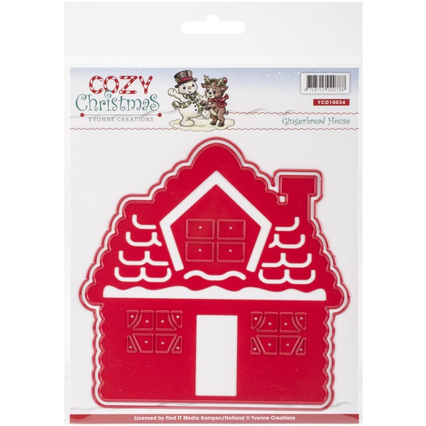 Find It Trading Yvonne Creations Cozy Christmas Die-Gingerbread House