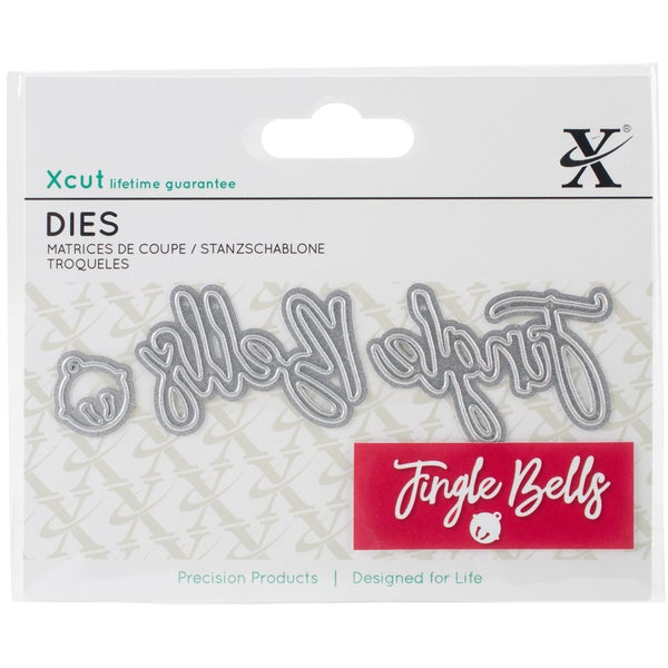 Xcut Mini Decorative Dies 3/Pkg-Jingle Bells Sentiment