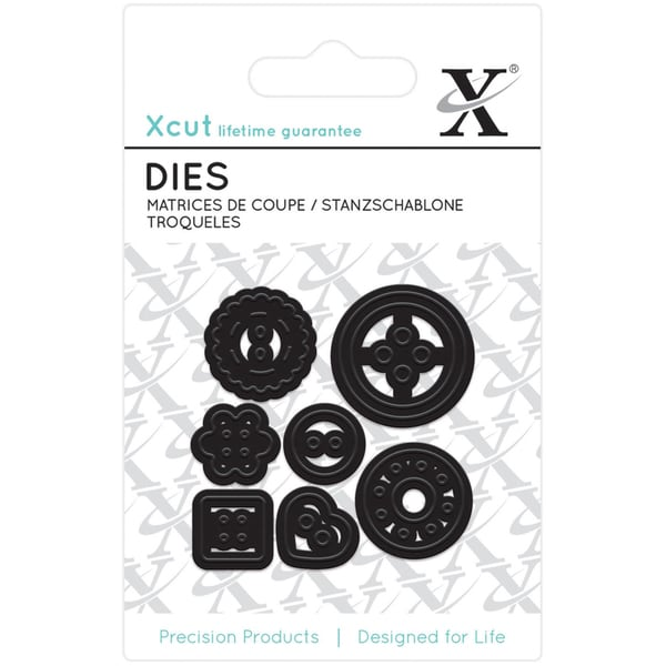 Xcut Mini Decorative Dies 7/Pkg-Buttons