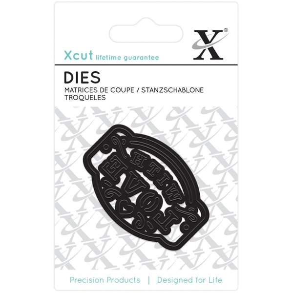 Xcut Mini Decorative Die -With Love