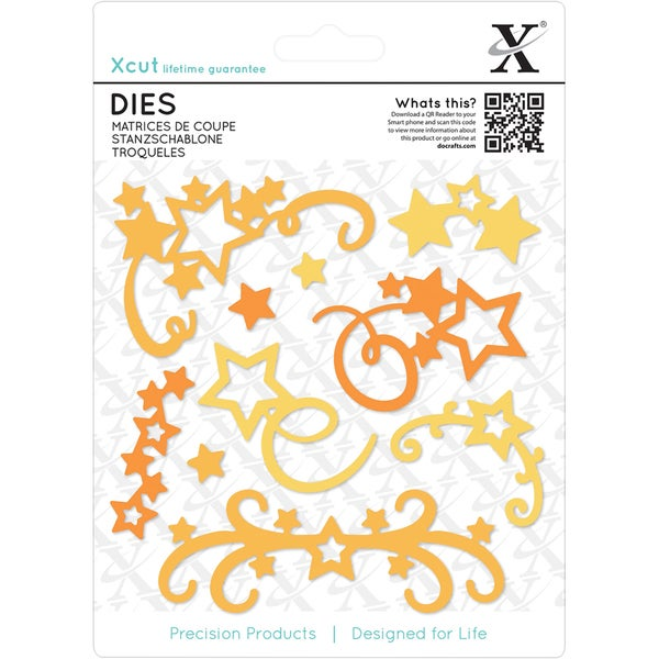 Xcut Decorative Dies 10/Pkg-Star Flourish