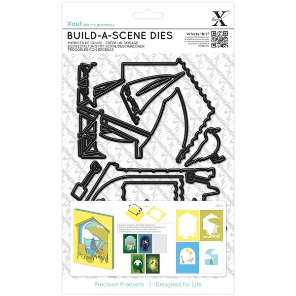 Xcut Build-A-Scene Dies 8/Pkg-Shadow Box Seaside