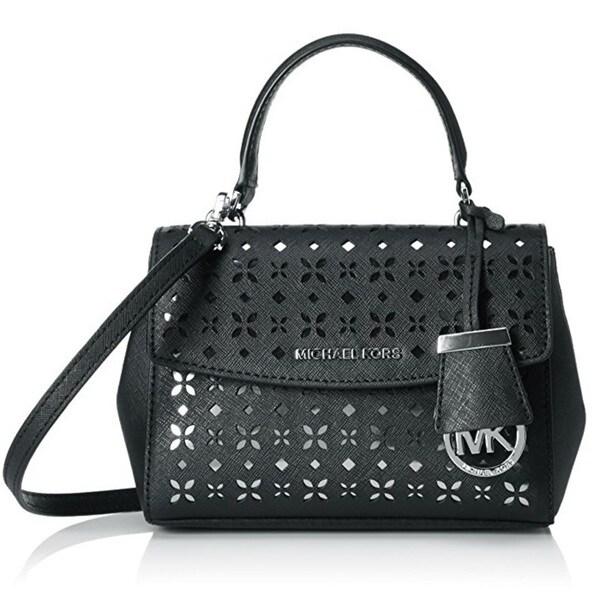 Michael Kors Ava X-Small Saffiano Leather Black Crossbody Bag