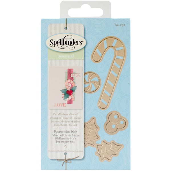 Spellbinders Shapeabilities Die D-Lites-Peppermint Stick