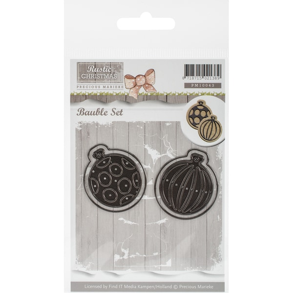 Find It Trading Precious Marieke Rustic Christmas Die-Bauble Set