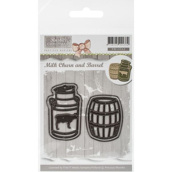 Find It Trading Precious Marieke Rustic Christmas Die-Milk Churn And Barrel