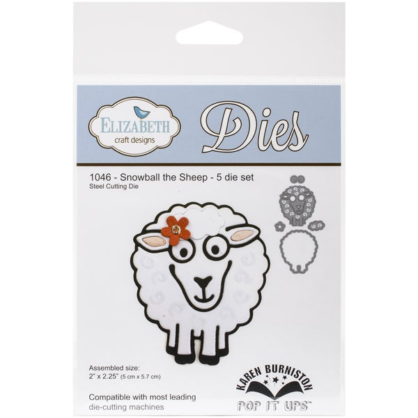 Elizabeth Craft Pop It Up Metal Dies By Karen Burniston-Snowball The Sheep