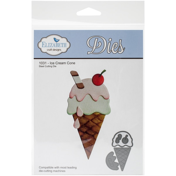 Elizabeth Craft Metal Die-Ice Cream Cone