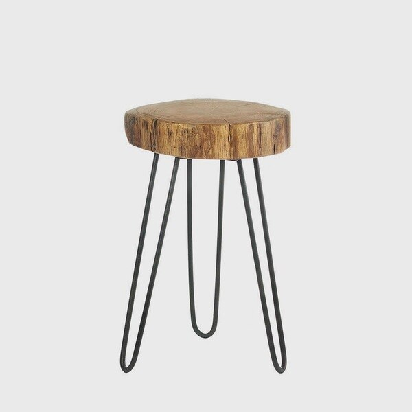 Paint Dipped Round Spindle Tray Top Side Table By Mid Century Living