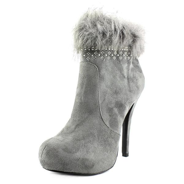 Nine West Women's 'Snoflakeol1' Grey Fabric Mid-calf High-heel Boots