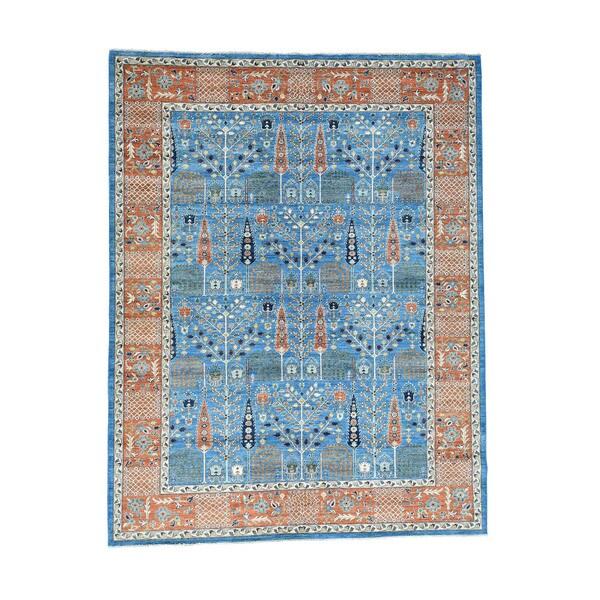 "Handmade Willow And Cypress Tree Design Bakshaish Carpet (9'3""x12')"