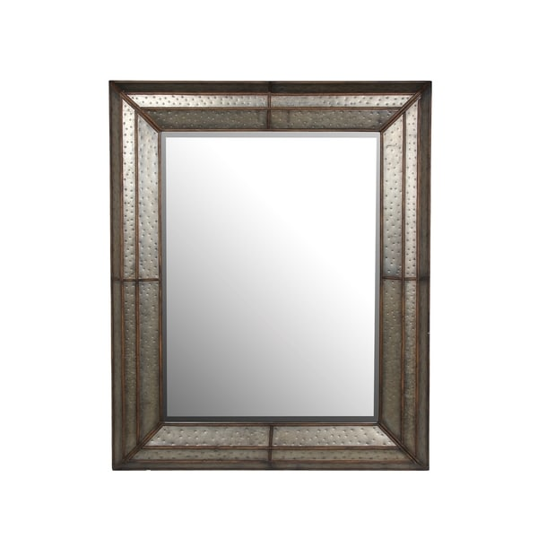 Privilege Grey Metal Wall Mirror