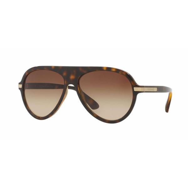 Versace Mens VE4321 108/13 Brown Plastic Cateye Sunglasses