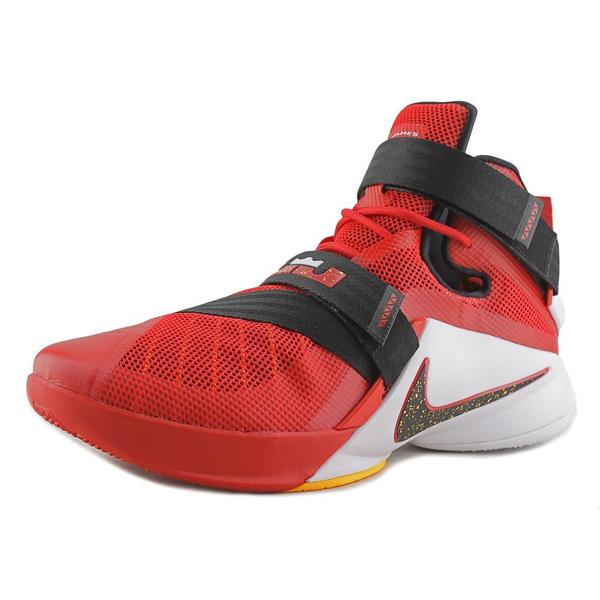 Nike Men's Lebron Soldier IX Red Mesh Athletic Shoes
