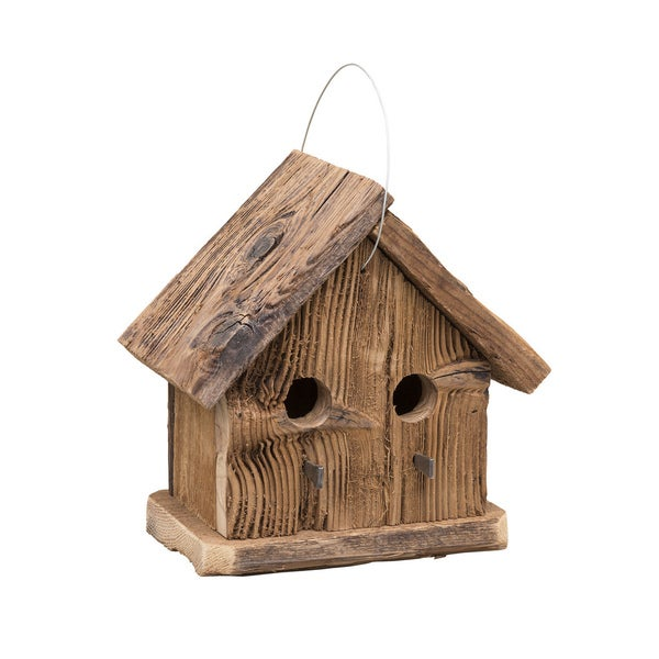 Rustic Barnwood 2 Hole Condo Bird House