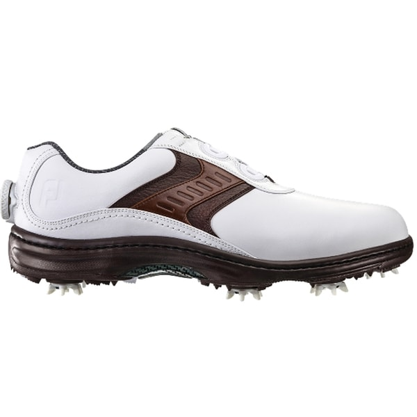 FootJoy Contour Series Saddle BOA Golf Shoes White/Brown