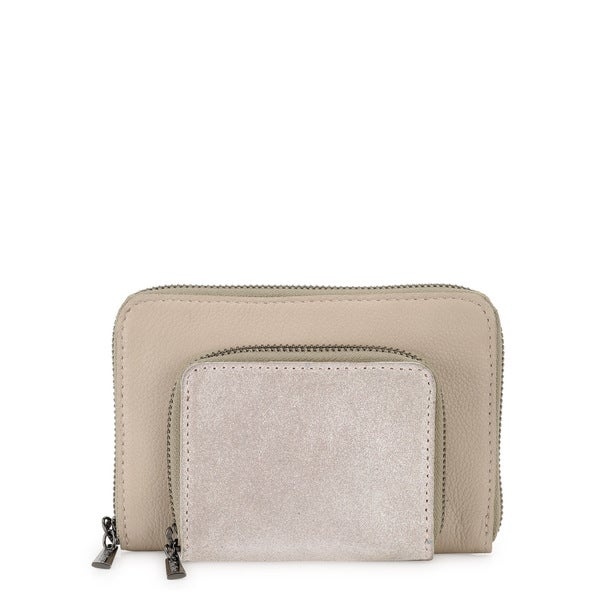 Phive Rivers Womens Leather Wallet (Beige, PR1223)