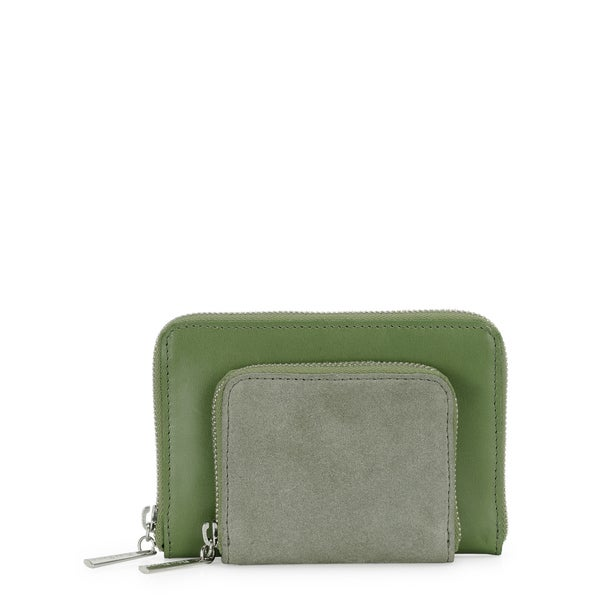 Phive Rivers Womens Leather Wallet (Green, PR1225)