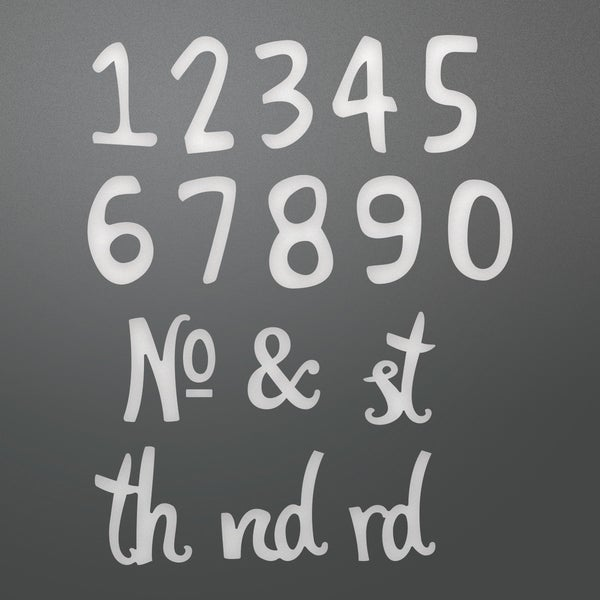 "Couture Creations Alpha-Numeric Die-Whimsical Numbers, Number Size:.39""X.63"""