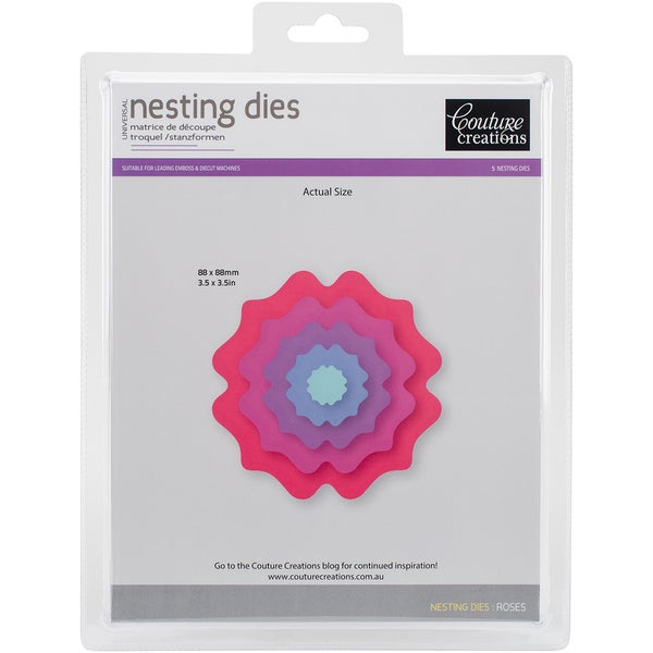 Couture Creations Nesting Dies-Rose
