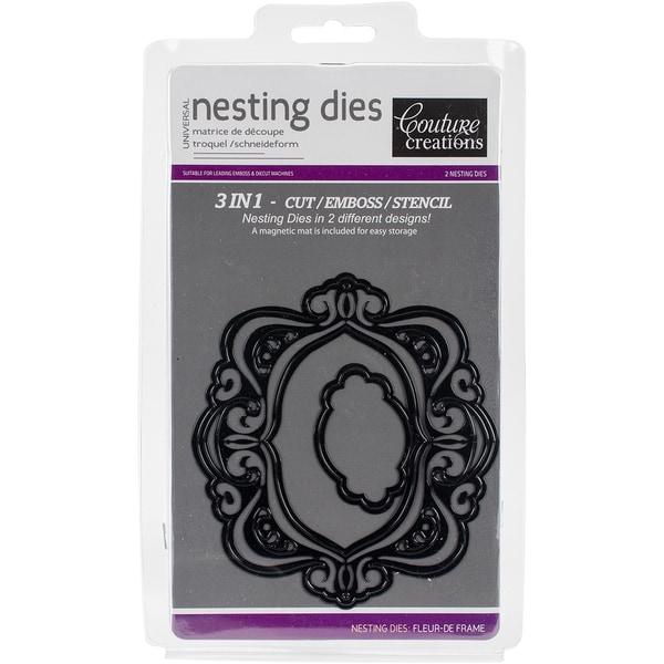 Couture Creations Nesting Dies-Fleur De Frame