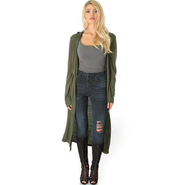 Long-Line Hooded Cardigan 22297771