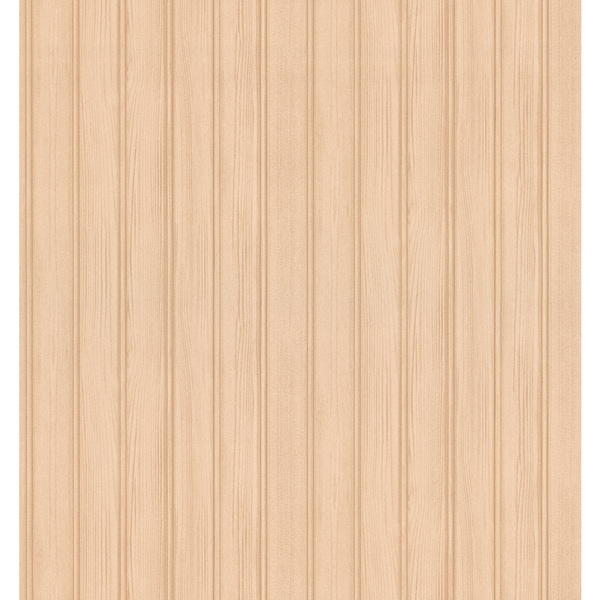 Brewster Hardwood Beige Wood Panelling Wallpaper