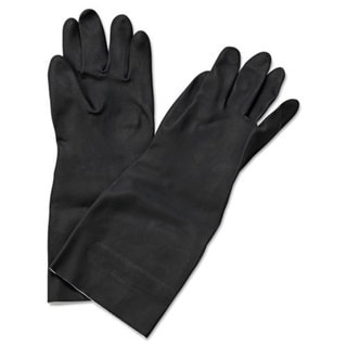 Boardwalk Neoprene Flock-Lined Gloves, Long-Sleeved, X-Large, Black, Dozen