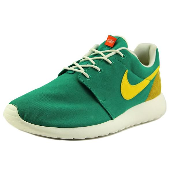 Nike Men's Roshe One Retro Green Textile Athletic Shoes