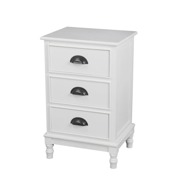 Prvilege White Wood 3-drawer Storage Unit